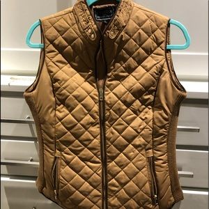Gold quilted vest